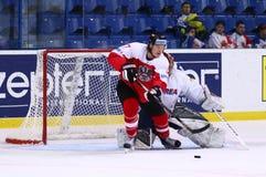 冰球2017年世界冠军Div 1A在Kyiv,乌克兰 库存照片