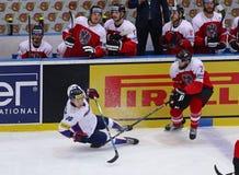 冰球2017年世界冠军Div 1A在Kyiv,乌克兰 免版税图库摄影