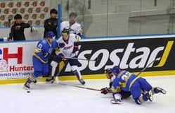 冰球2017年世界冠军Div 1A在Kyiv,乌克兰 库存图片