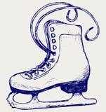 滑冰白色 免版税库存图片