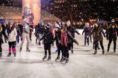 滑冰的乐趣 免版税库存图片