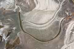 结冰的天然冰水晶背景 免版税图库摄影