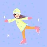滑冰的女孩 免版税库存图片