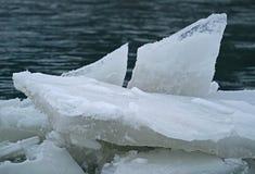 冰的形式 免版税库存照片