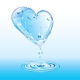 冰的熔化的心脏 免版税库存照片