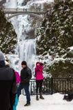 结冰的马特诺玛瀑布 库存图片