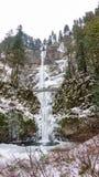 结冰的马特诺玛瀑布 免版税库存照片