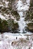 结冰的马特诺玛瀑布 库存照片