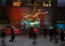 滑冰的洛克菲勒 库存图片