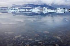 冰盐水湖 免版税库存照片