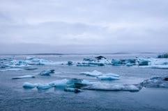 冰盐水湖 库存图片