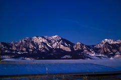 冰砾平面的铁山 库存照片