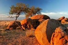 冰砾brandberg花岗岩山纳米比亚 库存图片