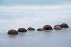 冰砾moeraki新西兰 图库摄影