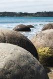 冰砾moeraki新西兰 库存照片