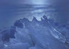 冰碎片在黎明 库存图片