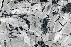 冰碎片  破裂的冰 库存图片