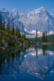 冰碛湖海岸线  库存图片