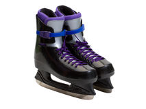 冰穿上鞋子冰鞋 库存图片