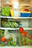 冰箱蔬菜 库存图片