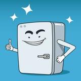 冰箱被说明的字符 免版税库存照片
