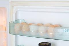 冰箱鸡蛋 免版税库存照片