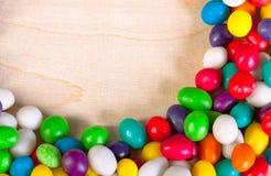从冰糖五颜六色的甜点的背景  库存图片
