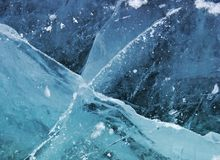 冰纹理 免版税库存照片