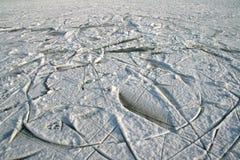冰线路滑冰 免版税库存图片