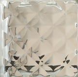 冰背景的透明反射 库存图片