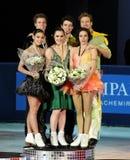 冰舞蹈的奖牌获得者 免版税库存图片