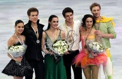 冰舞蹈的奖牌获得者 库存图片