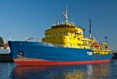 破冰船在圣彼得堡 库存照片