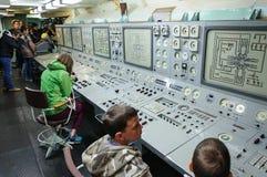 破冰船的列宁游人 控制板能量和vi 库存照片