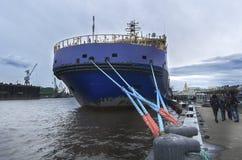 破冰船`摩尔曼斯克` 库存图片