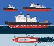 破冰船infographics 库存照片