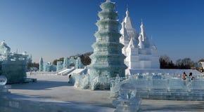 冰节日在哈尔滨,中国 库存图片