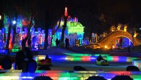 冰节日在哈尔滨,中国 免版税库存图片