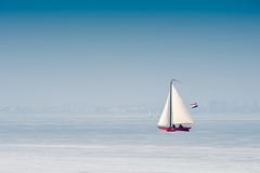 冰荷兰航行 库存图片