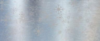 冰蓝色金属与星的纹理背景 免版税库存图片