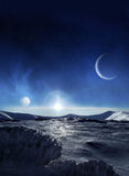 冰行星 库存照片