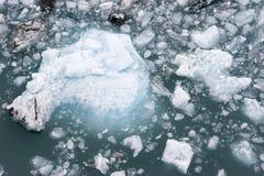 冰被终止的冰川 免版税库存图片