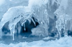 冰钉。 图库摄影