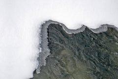 冰雪水 免版税库存照片