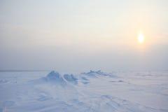 冰雪沙漠 免版税库存照片
