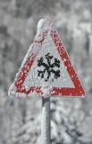 冰雪警告 库存照片