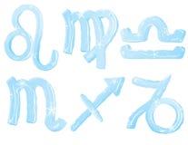 冰零件集合符号二黄道带 免版税库存图片