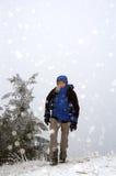 冰雹软的游人 库存图片