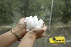冰雹风暴 免版税库存照片