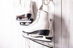 冰鞋关闭  免版税图库摄影